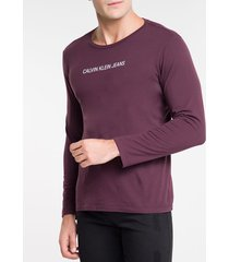 camiseta ckj ml logo basico - bordo - p