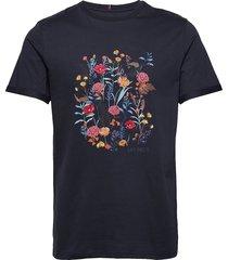 fleur d'été t-shirt t-shirts short-sleeved blauw les deux