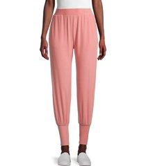 walter baker women's elasticized-waist jogger pants - pink - size s