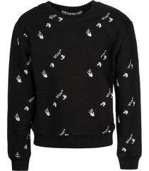 off-white ow all-over slim crewneck sweatshirt