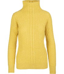 ermanno scervino yellow cashmere high neck sweater