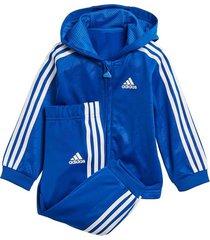 conjunto azul adidas jogger shiny hooded