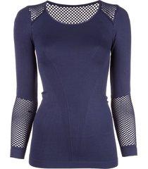 alala seamless long-sleeve t-shirt - blue
