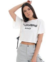 t-shirt eco pkd palm springs off white - kanui