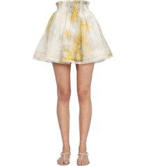 zimmermann mini wattle botanical skirt