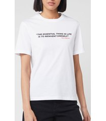 karl lagerfeld women's legend karlism t-shirt - white - l