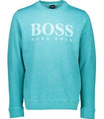 boss orange trui wallker blue blauw