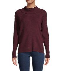 braided-trim sweater