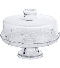 prato para bolo, boleira, porta bolo de vidro com tampa e base