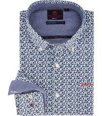 overhemd new zealand button down blauw motief