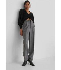 trendyol knit drawstring detail sweater - black
