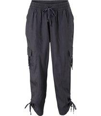 pantaloni cropped larghi stile cargo (grigio) - bpc bonprix collection