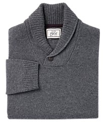 1905 collection merino wool blend shawl collar men's sweater - big & tall clearance