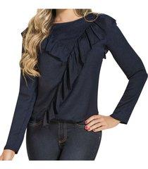 blusa nira azul oscuro  para mujer croydon
