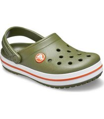 crocs - crocband kids army green/burnt sienna - masculino