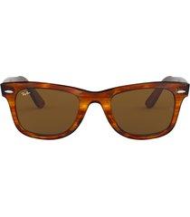 ray-ban ray-ban rb2140 striped havana sunglasses