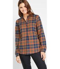 flanellen blouse, geruit