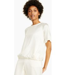 alfani petite short-sleeve satin top, created for macy's