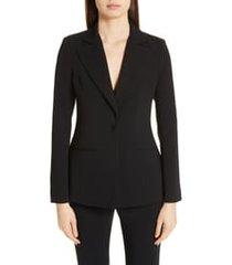 women's altuzarra acacia one button jacket, size 10 us - black