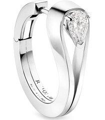 'serti inversé' diamond white gold earrings