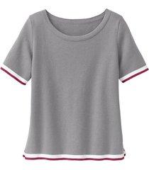 sportief gebreid shirt van biologisch katoen, grijs 34
