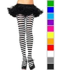 nylon stripe tights pantyhose socks regular plus size stockings costume cosplay