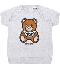 moschino grey dress for babygirl with teddy bear