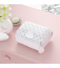 trocador bebê portátil rosa nuvem de algodáo gráo de gente rosa - tricae
