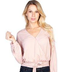 blusa lazo en cintura rosada efesis