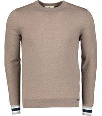gentiluomo pullover - slim fit - bruin