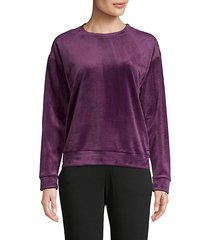 long-sleeve velvet sweatshirt