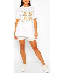 arrow print t-shirt, white