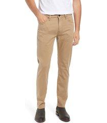 men's 34 heritage men's courage straight leg twill pants, size 40 x 32 - beige