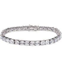 cz by kenneth jay lane women's cushion cubic zirconia tennis bracelet