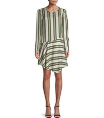 stripe asymmetrical dress