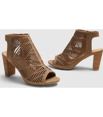 lane bryant women's dream cloud cutout open-toe bootie 12w taupe