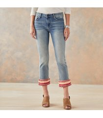 driftwood jeans colette pretty in fringe jeans