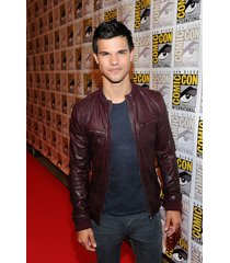 custom handmade taylor lautner leather jacket, maroon biker jackets, biker