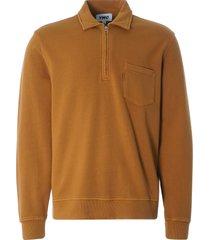 ymc sugden cotton loopback zip sweatshirt | yellow | p7qaa-70