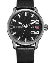 reloj análogo f0022g-1 hombre negro
