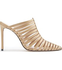 caprien mule - 9 honey beige leather