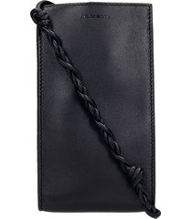 jil sander iphone / ipad case in black leather