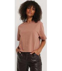 na-kd basic oversize t-shirt - pink