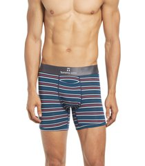 tommy john second skin 4-inch boxer briefs, size x-large in helmes stripe at nordstrom