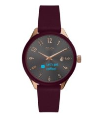 itouch unisex connected merlot leather strap smart watch 38mm