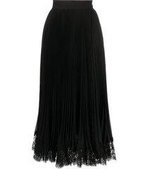 dolce & gabbana plissé mid-length skirt - black