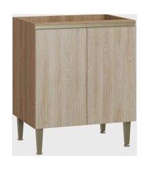 balcáo 2 portas madeira/aveiro be mobiliário marrom