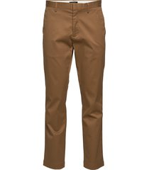 aiden slim rapid movement chino chinos byxor brun banana republic