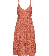 blossom lace dress knälång klänning orange gina tricot