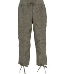 pantaloni capri con arricciature (verde) - bpc bonprix collection